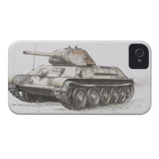 Russian T-34 army tank, side view. iPhone 4 Case-Mate Case