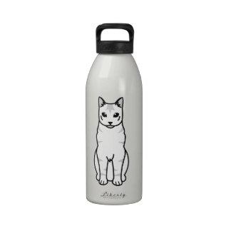 Russian Tabby Cat Cartoon Reusable Water Bottles