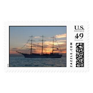 "Russian tall ship ""Nadezhda""in Vladivostok Postage Stamp"