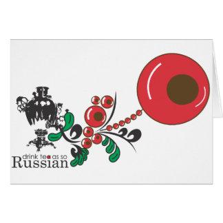 Russian Tea Greeting Card