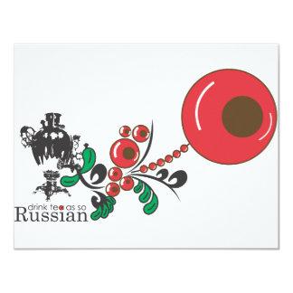 Russian Tea 4.25x5.5 Paper Invitation Card