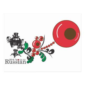 Russian Tea Postcard