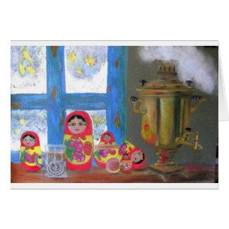 russian tea time greeting card