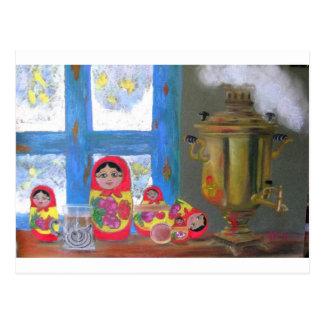 russian tea time postcard