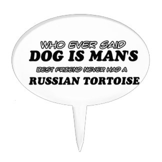 Russian Tortoise  pet designs Cake Picks