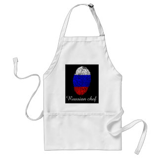 Russian touch fingerprint flag adult apron