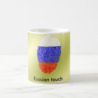 Russian touch fingerprint flag coffee mug