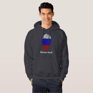 Russian touch fingerprint flag hoodie