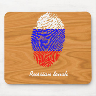 Russian touch fingerprint flag mouse pad
