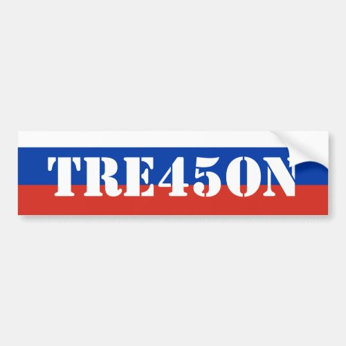 Russian Trump Treason 45 Bumper Sticker