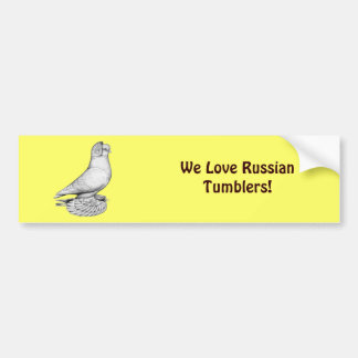 Russian Tumbler Pigeon Bumper Sticker