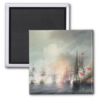 Russian-Turkish Sea Battle of Sinop 2 Inch Square Magnet