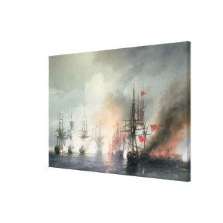 Russian-Turkish Sea Battle of Sinop Canvas Print