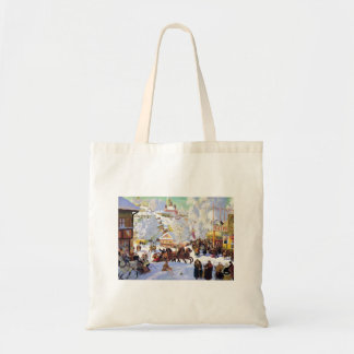 Russian Village in the Winter Bag