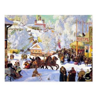 Russian Village in the Winter Postcard