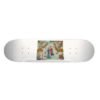 Russian Village in Winter Skateboard Deck