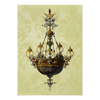 Russian Vintage Antique Chandelier Print