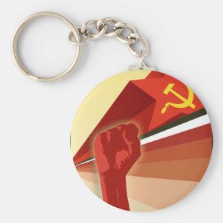 Russian Vintage Communist Propaganda Keychain