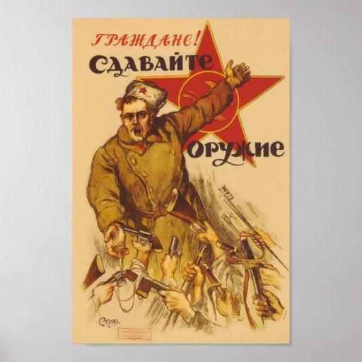 Russian Vintage Communist Propaganda Poster