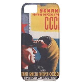 Russian Vintage Communist Propaganda Poster Case For iPhone 5C