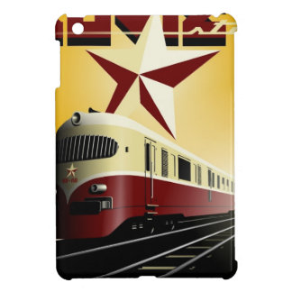 Russian Vintage Communist Railway Poster Cover For The iPad Mini