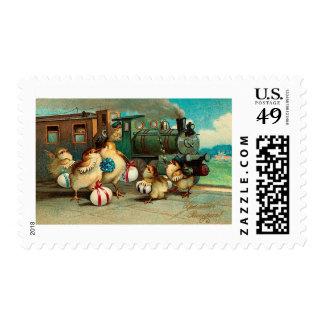 Russian Vintage Easter Postage Stamp