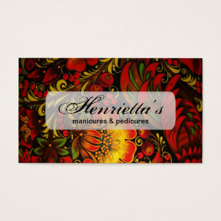Russian Vintage Fine Floral Pattern Business Card