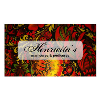 Russian Vintage Fine Floral Pattern Double-Sided Standard Business Cards (Pack Of 100)
