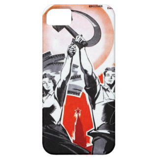 Russian Vintage Propaganda Poster iPhone 5 Covers