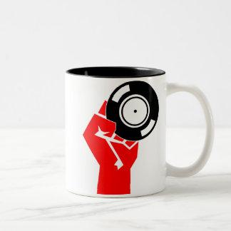 Russian Vinyl Two-Tone Coffee Mug
