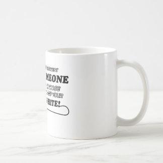 russian white design coffee mug