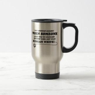 russian white design travel mug