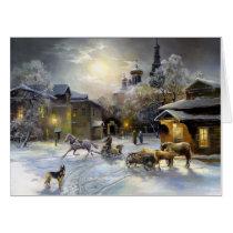 Russian Winter Painting (18x24) Big Card