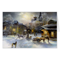 Russian Winter Painting (24x36) Big Card