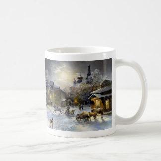 Russian Winter Painting Basic White Mug