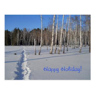 Russian winter scene postcard