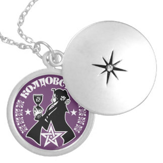 Russian Witch, Chalice & Pentacle Personalized Necklace
