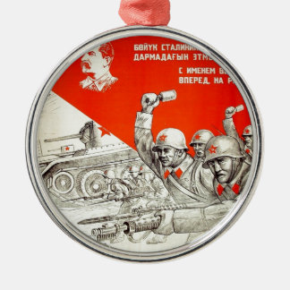 Russian WWII Propaganda Metal Ornament