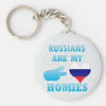Russians are my Homies Basic Round Button Keychain