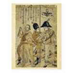 Russians by  Nagasaki,  Bunkindo,  Ukiyoe Post Card