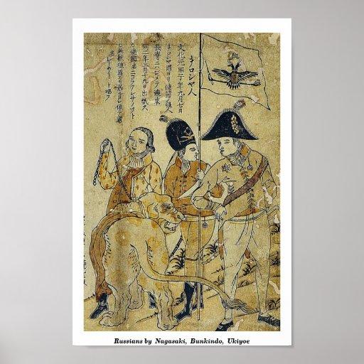 Russians by  Nagasaki,  Bunkindo,  Ukiyoe Poster