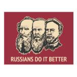 Russians do it better post card
