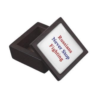 Russians Never Stop Fighting Premium Jewelry Box
