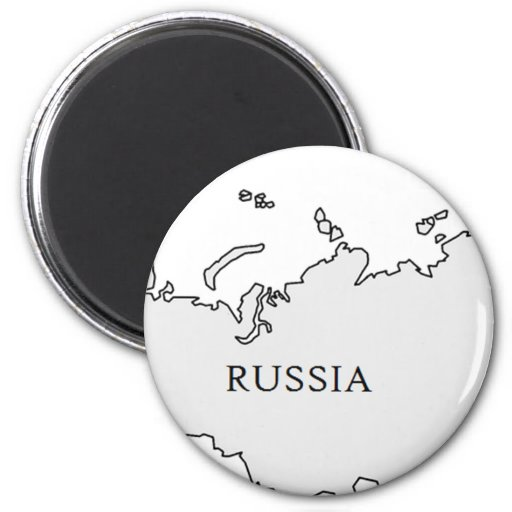 RussiaOutline2 Imán Redondo 5 Cm