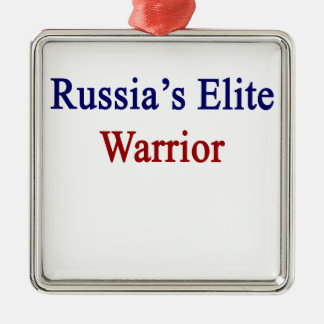 Russia's Elite Warrior Metal Ornament