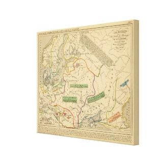 Russie, ante, Norwege Impresión En Tela