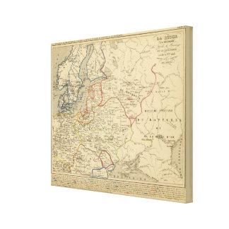 Russie, Pologne, Suede, Norwege, Danemarck Canvas Print