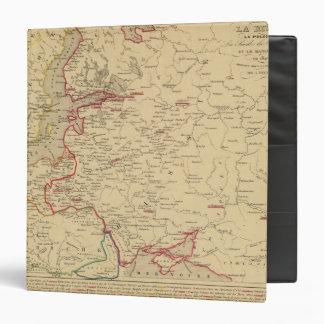 Russie, Pologne, Suede, Norwege, Danemarck en 1840 3 Ring Binder