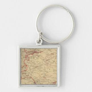 Russie, Pologne, Suede, Norwege, Danemarck en 1840 Keychain