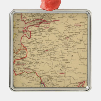 Russie, Pologne, Suede, Norwege, Danemarck en 1840 Metal Ornament